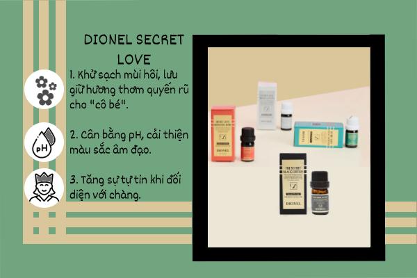 Công dụng của nước hoa vùng kín Dionel Secret Love