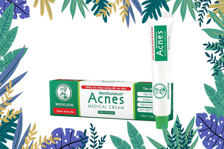 Acnes Medical Cream là loại thuốc trị mụn được khuyên dùng trong các trường điều trị mụn sưng đỏ và đau