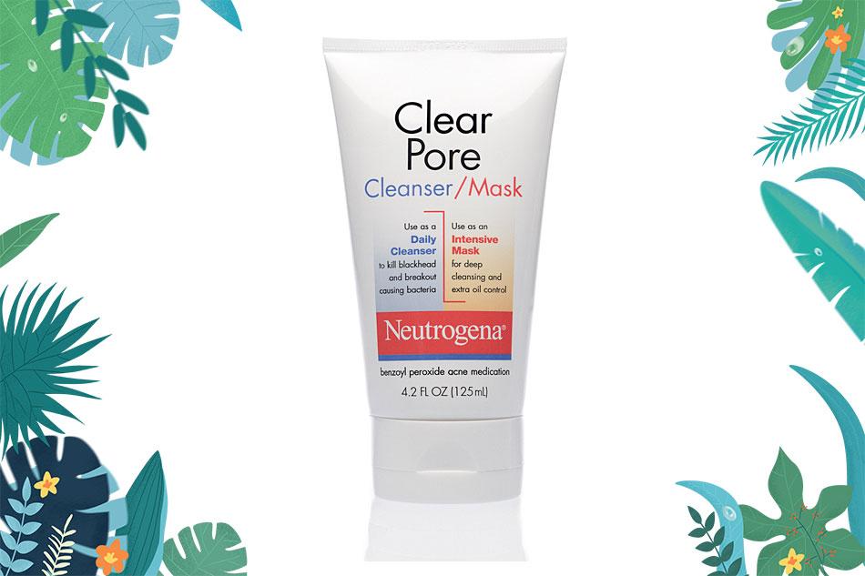 Neutrogena Clear Pore Cleanser Mask giúp rửa sạch sâu, ít tạo bọt, giúp kiểm soát dầu nhờn hiệu quả