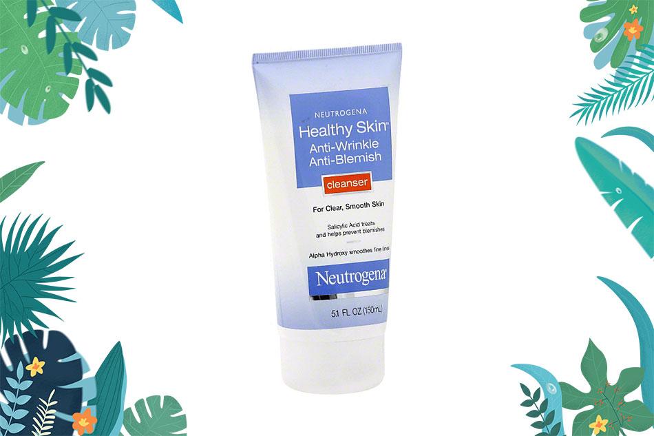 Neutrogena Healthy Skin Anti-Wrinkle Anti Blemish Cleanser dành cho những đối tượng bị da mụn