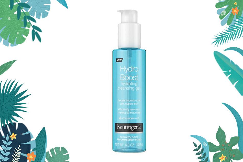 Neutrogena Hydro Boost Water Cleanser Gel phù hợp với da khô, da thường, da thiếu nước