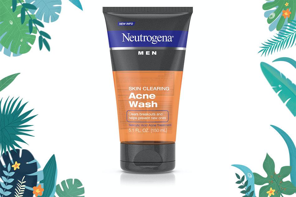 Neutrogena Men Skin Clearing Acne Wash là dòng sản phẩm hiếm hoi dành cho nam