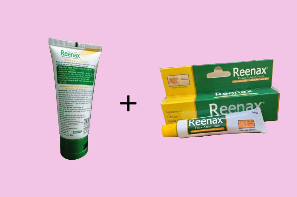 Nâng cao hiệu quả với combo sữa rửa mặt và kem trị mụn Reenax