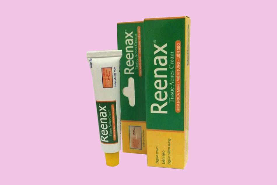 Thành phần của kem trị mụn Reenax